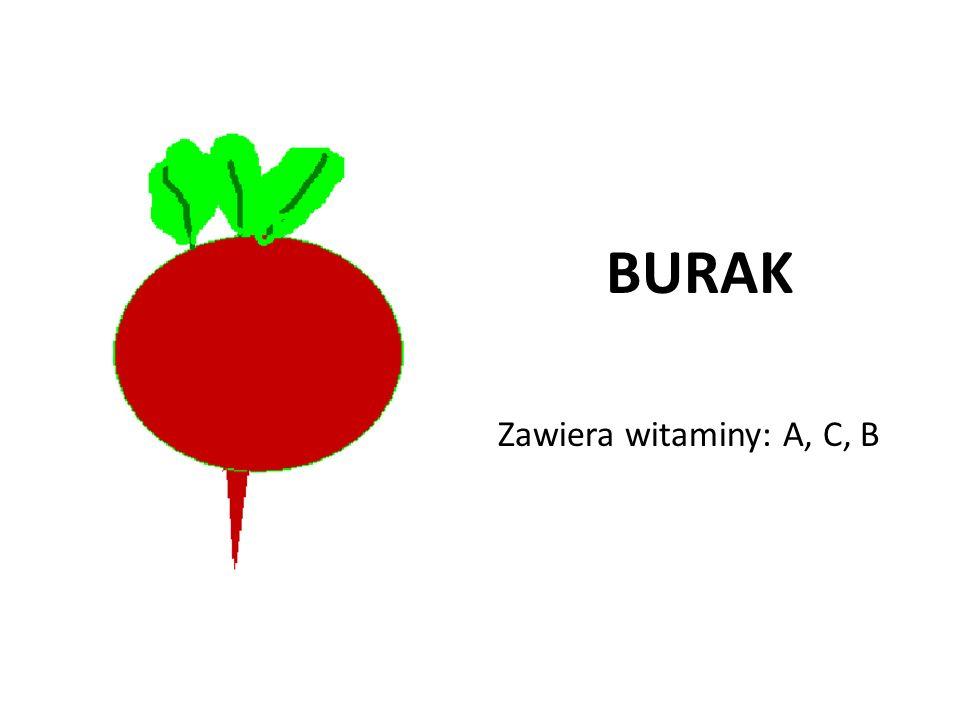 BURAK Zawiera witaminy: A, C, B