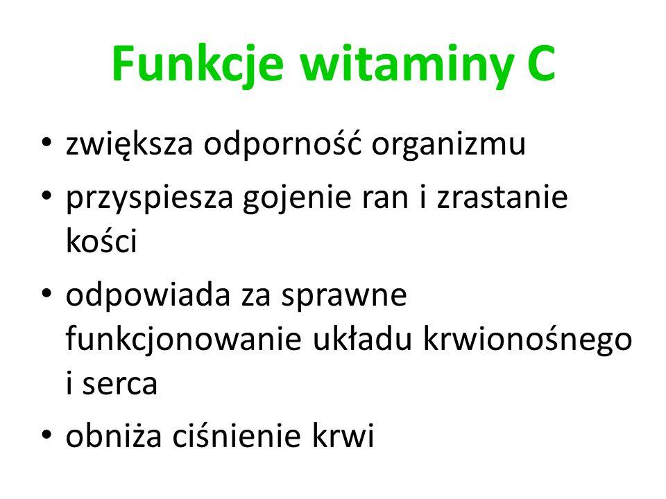 Funkcje witaminy C zwiększa odporność organizmu