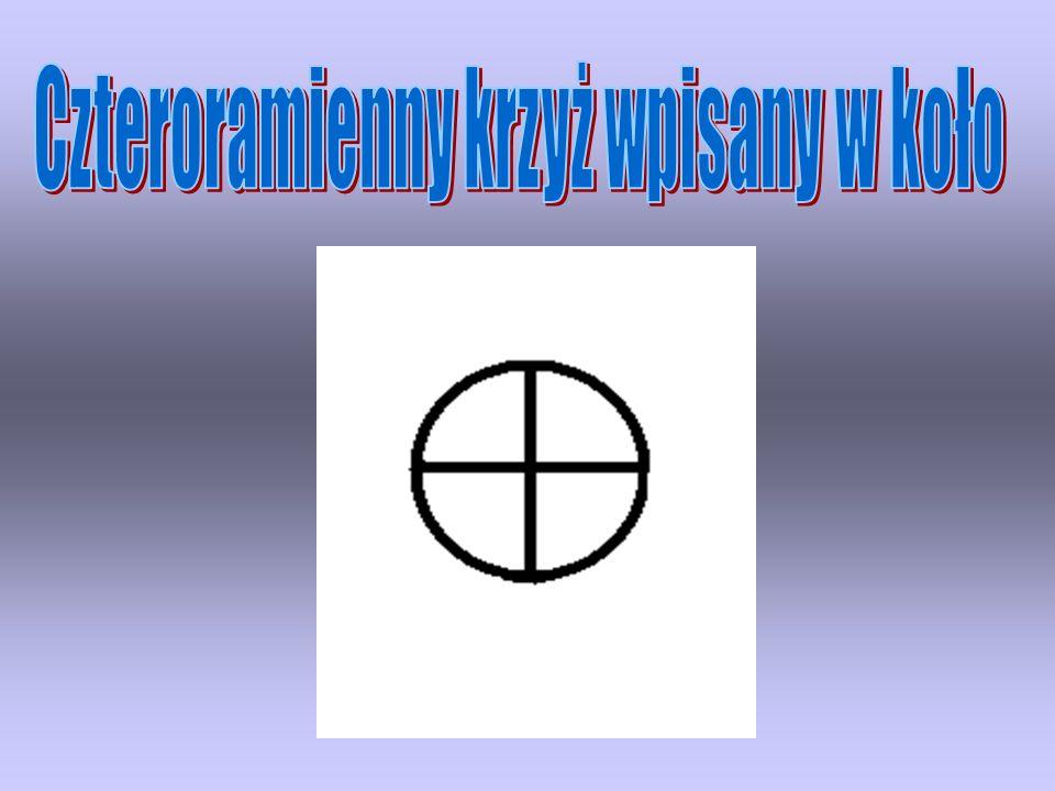 Czteroramienny krzyż wpisany w koło