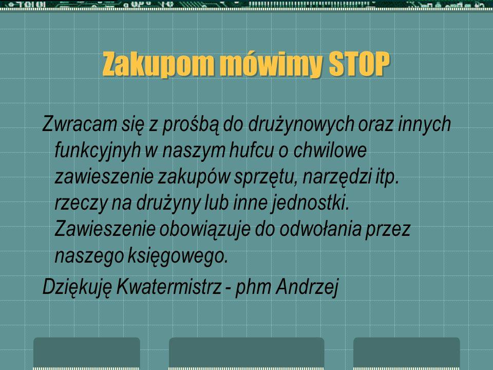 Zakupom mówimy STOP