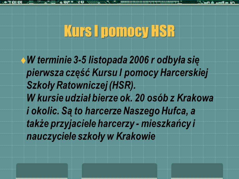 Kurs I pomocy HSR