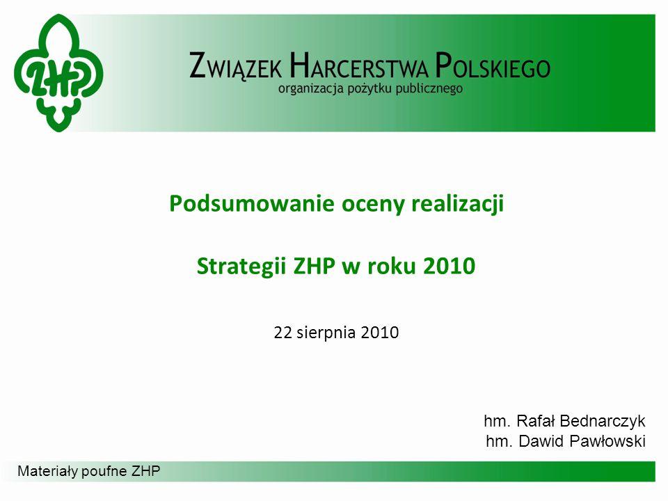 Podsumowanie oceny realizacji Strategii ZHP w roku 2010 22 sierpnia 2010
