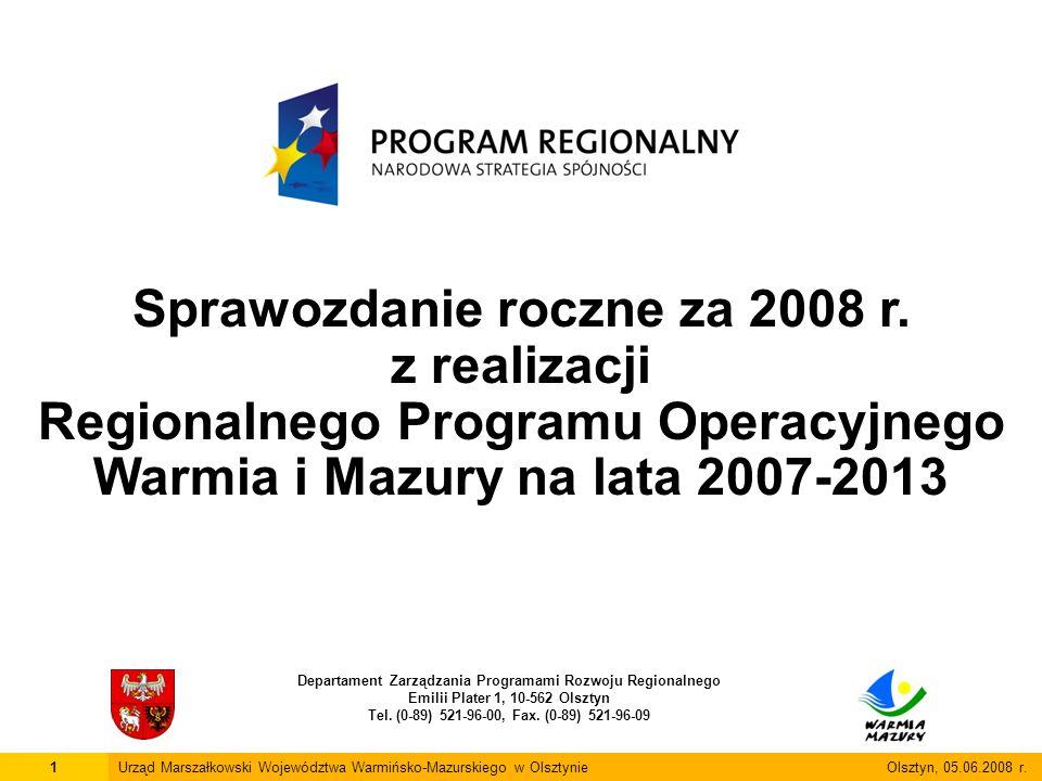Sprawozdanie roczne za 2008 r. z realizacji