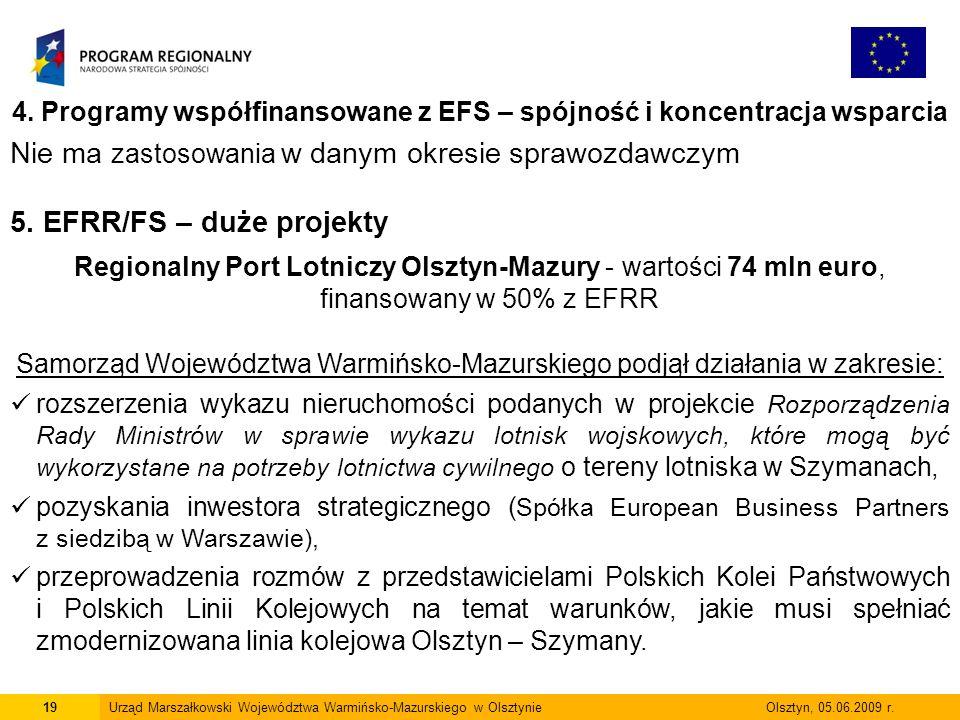4. Programy współfinansowane z EFS – spójność i koncentracja wsparcia