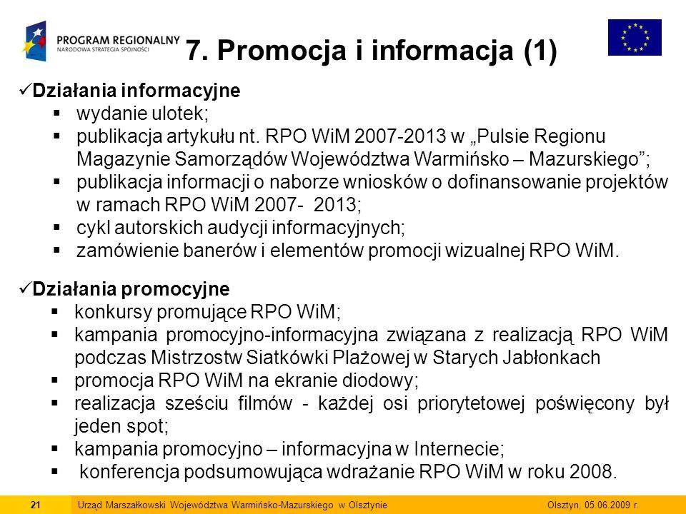 7. Promocja i informacja (1)