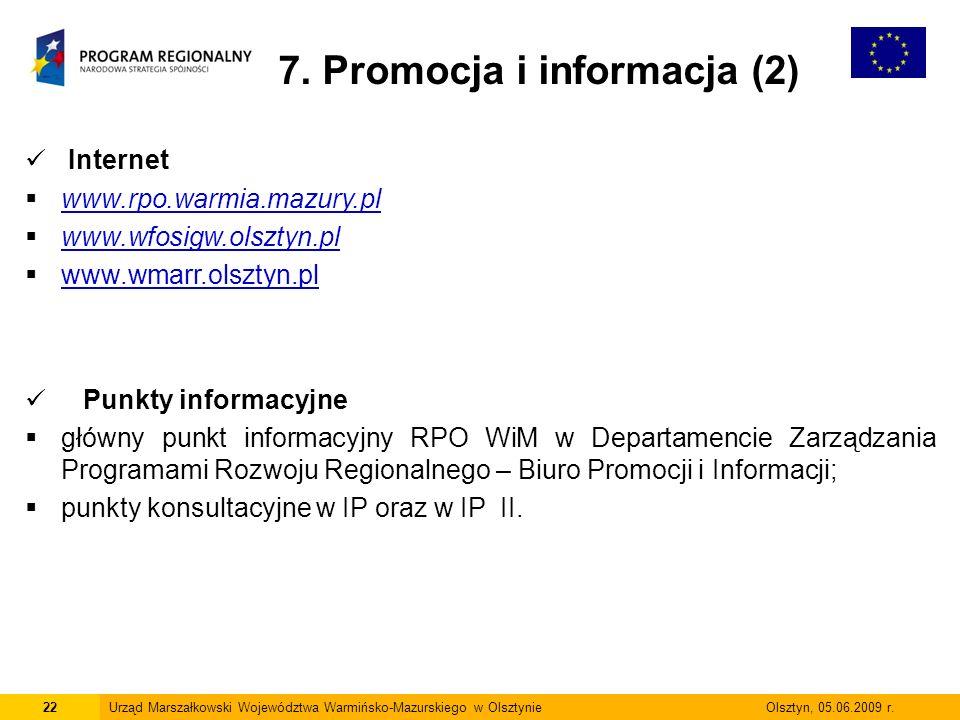 7. Promocja i informacja (2)