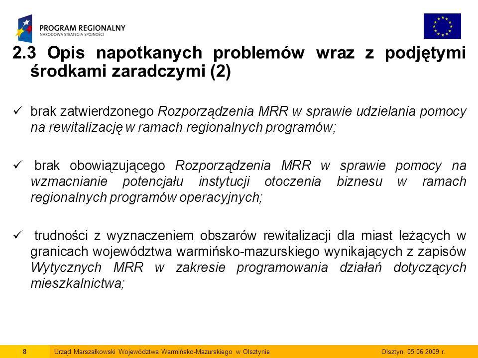 2.3 Opis napotkanych problemów wraz z podjętymi środkami zaradczymi (2)