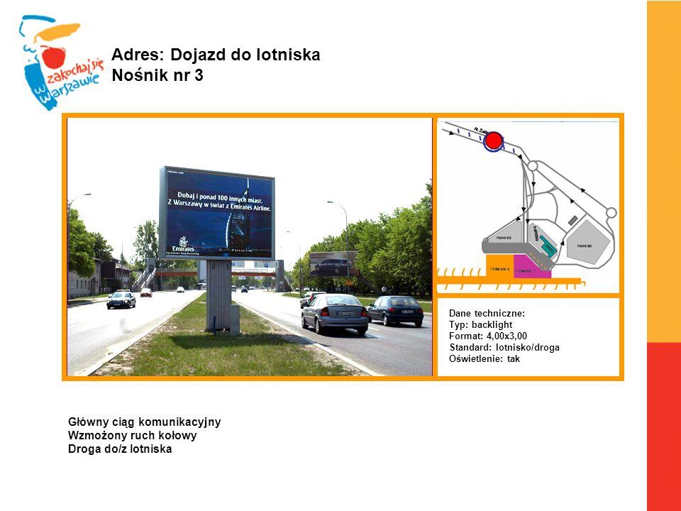 Adres: Dojazd do lotniska Nośnik nr 3