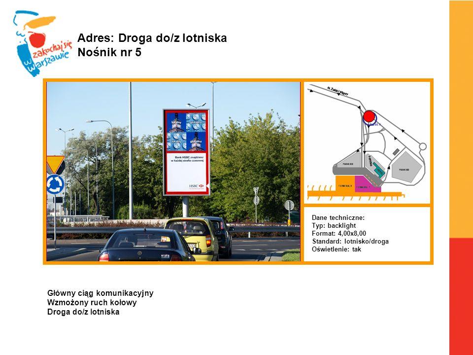 Adres: Droga do/z lotniska Nośnik nr 5