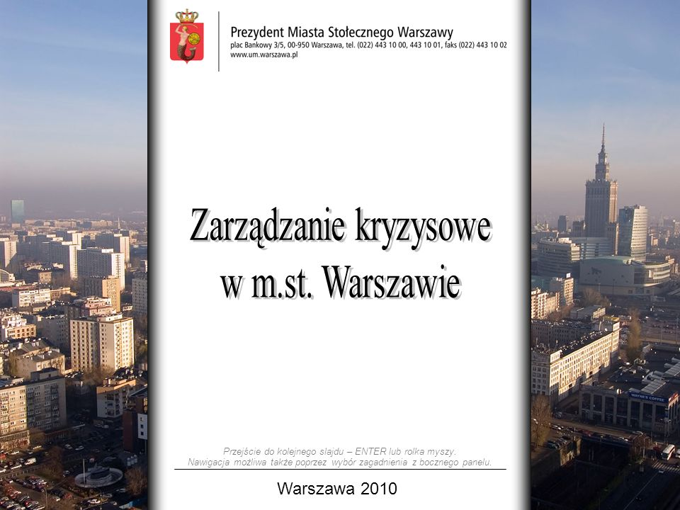 Zarządzanie kryzysowe w m.st. Warszawie