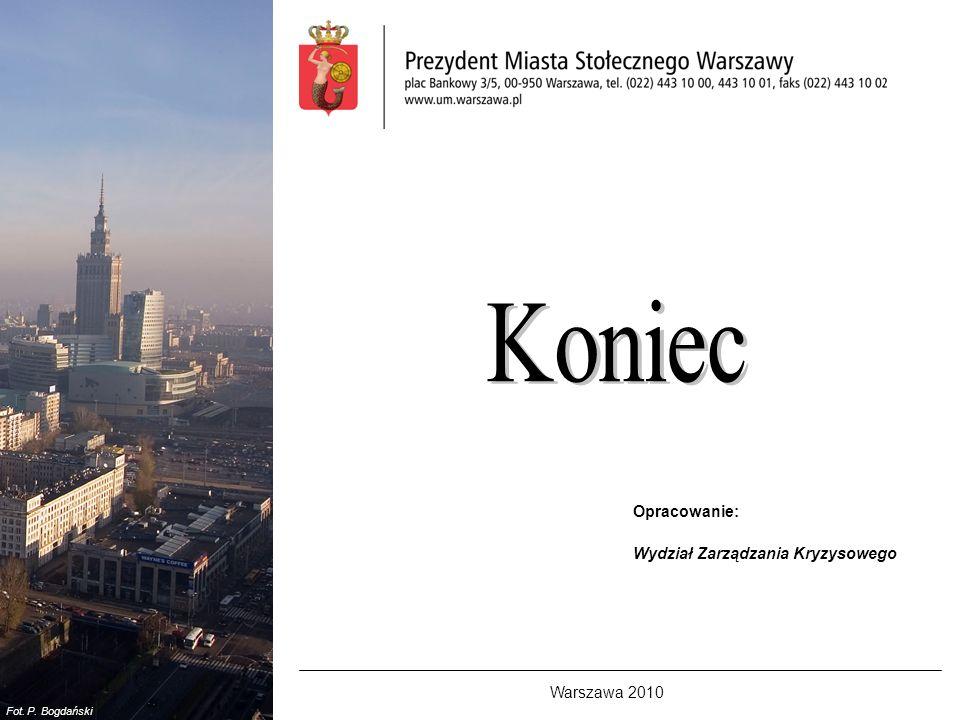 Koniec Opracowanie: Wydział Zarządzania Kryzysowego Warszawa 2010