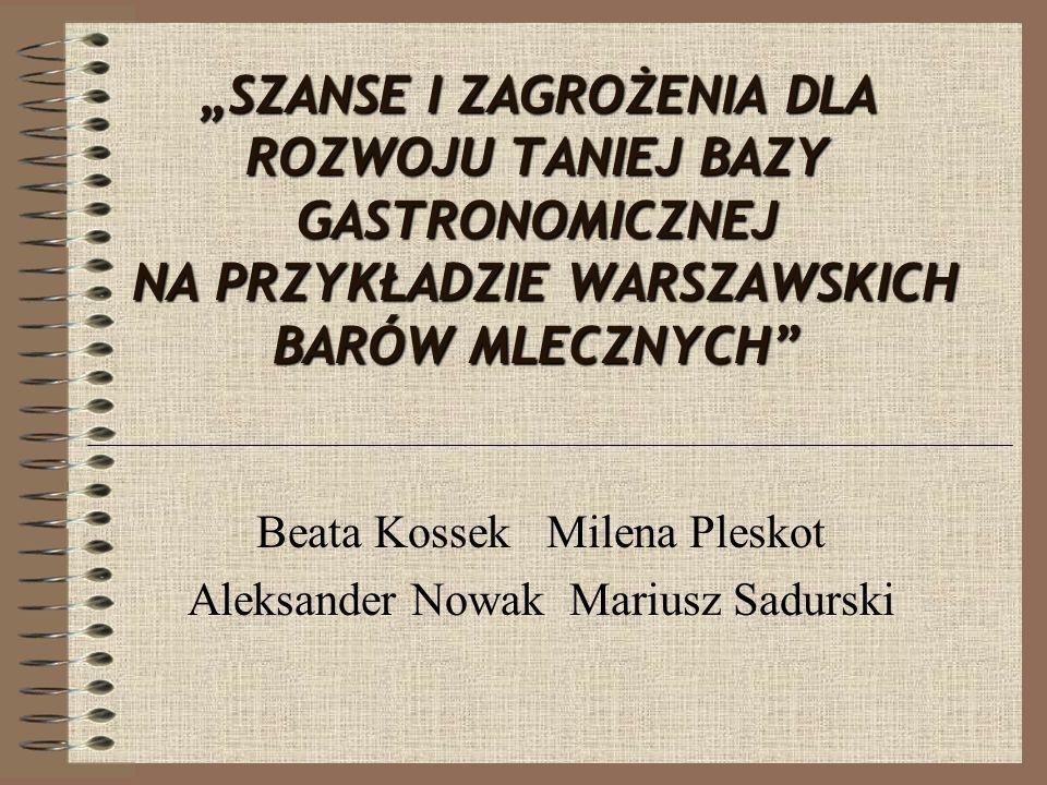Beata Kossek Milena Pleskot Aleksander Nowak Mariusz Sadurski