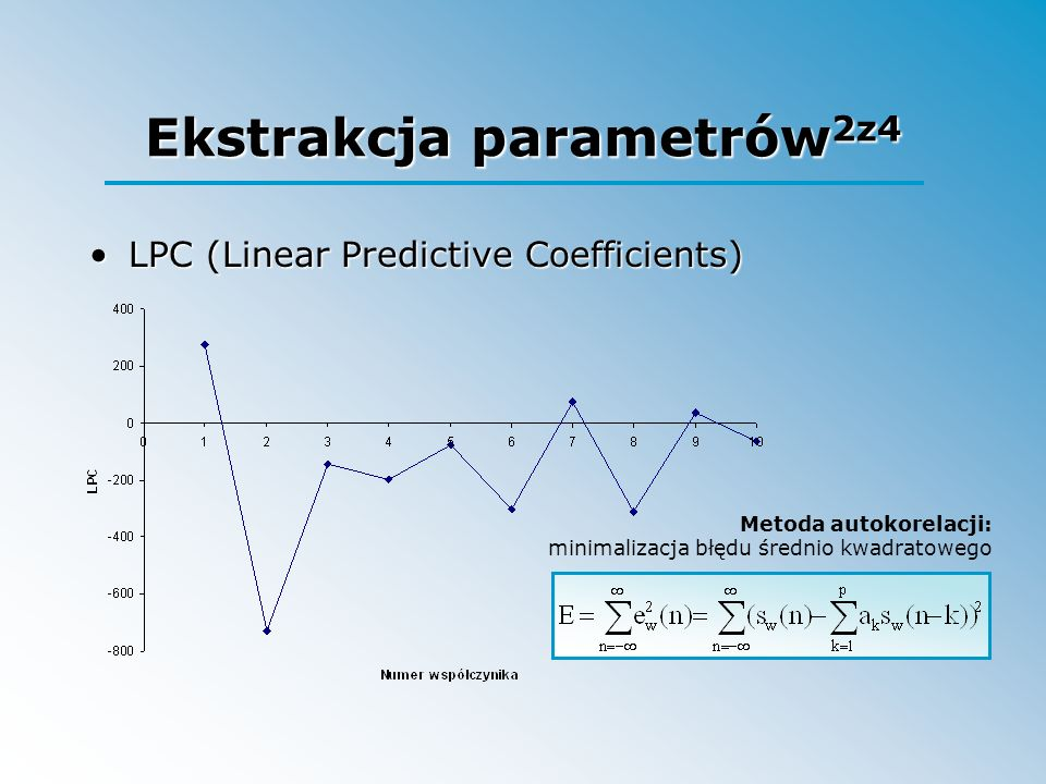 Ekstrakcja parametrów2z4