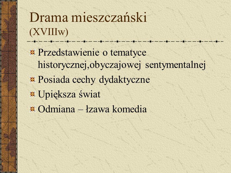 Drama mieszczański (XVIIIw)