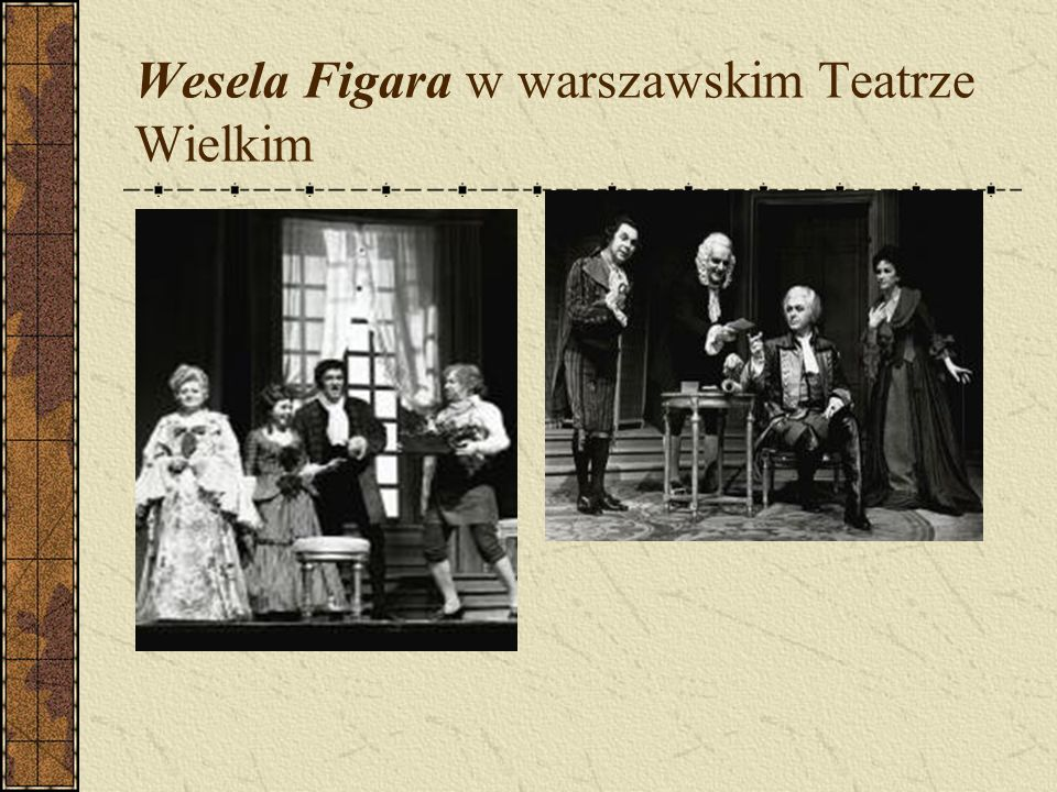 Wesela Figara w warszawskim Teatrze Wielkim