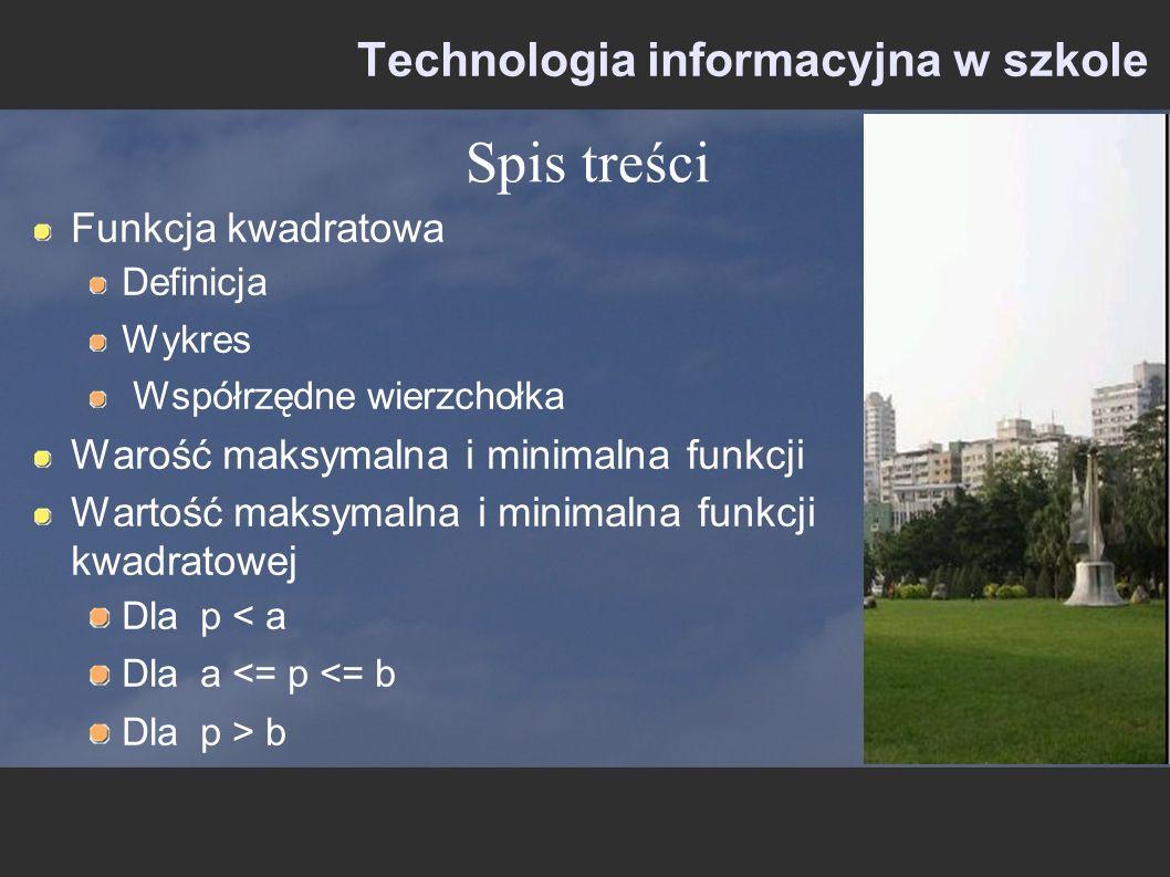 Technologia informacyjna w szkole