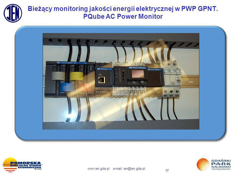 Bieżący monitoring jakości energii elektrycznej w PWP GPNT