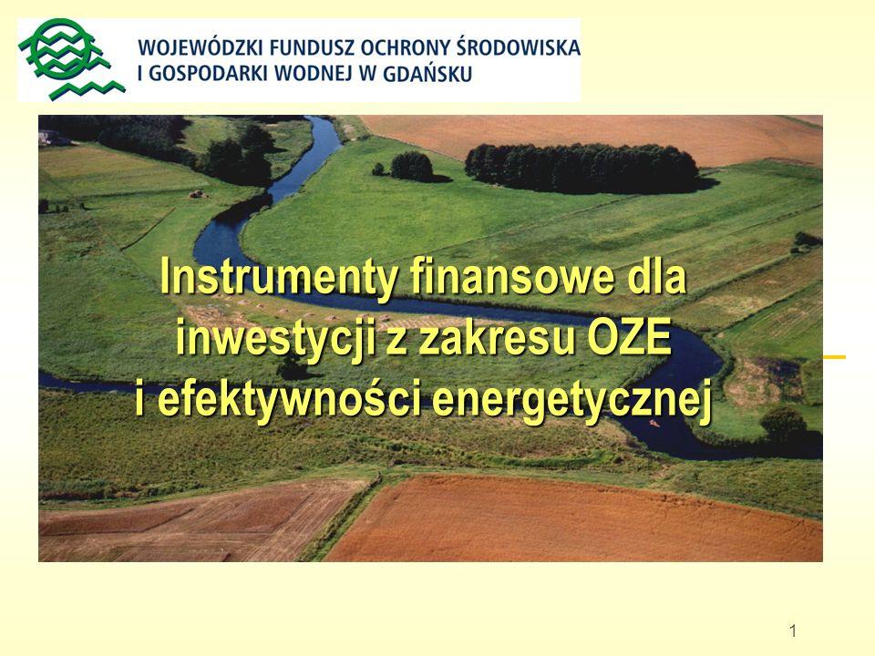 Instrumenty finansowe dla inwestycji z zakresu OZE i efektywności energetycznej