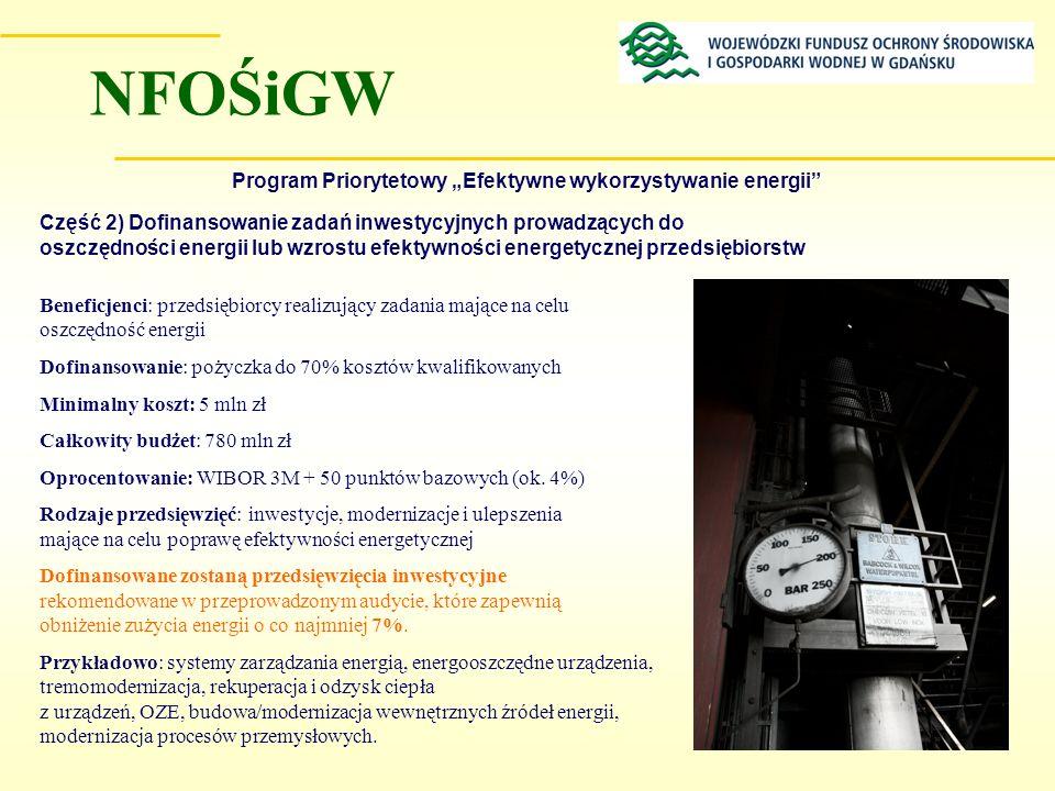 """Program Priorytetowy """"Efektywne wykorzystywanie energii"""