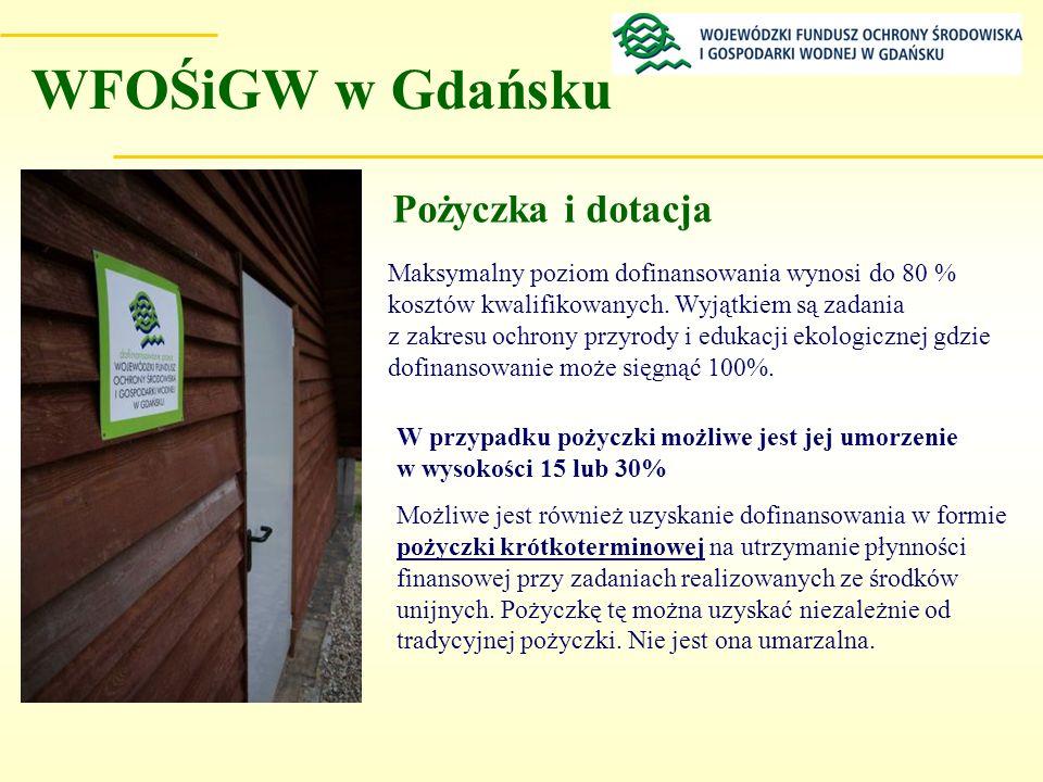 WFOŚiGW w Gdańsku Pożyczka i dotacja
