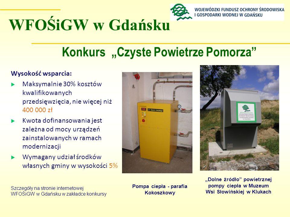 """Konkurs """"Czyste Powietrze Pomorza Pompa ciepła - parafia Kokoszkowy"""