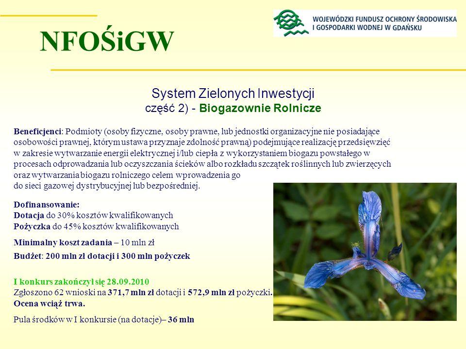 System Zielonych Inwestycji część 2) - Biogazownie Rolnicze