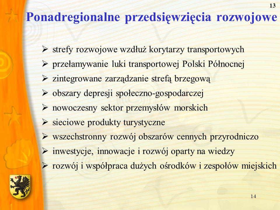 Ponadregionalne przedsięwzięcia rozwojowe