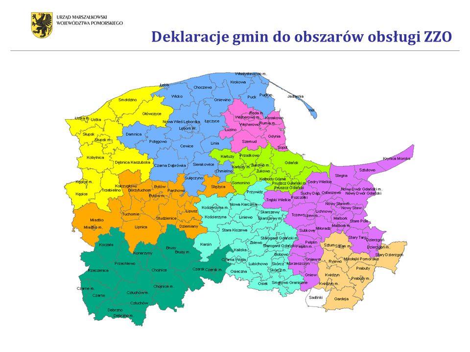 Deklaracje gmin do obszarów obsługi ZZO