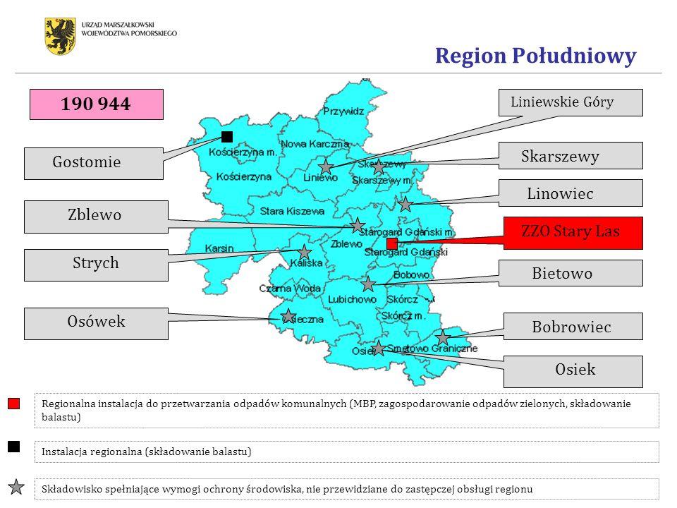 Region Południowy 190 944 Skarszewy Gostomie Linowiec Zblewo