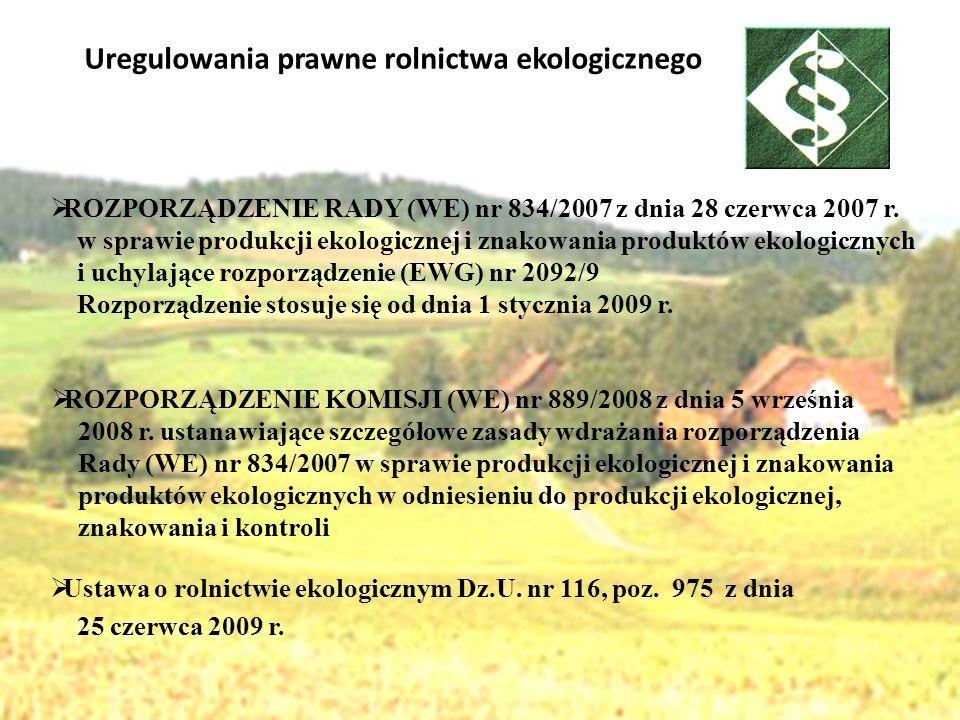 Uregulowania prawne rolnictwa ekologicznego
