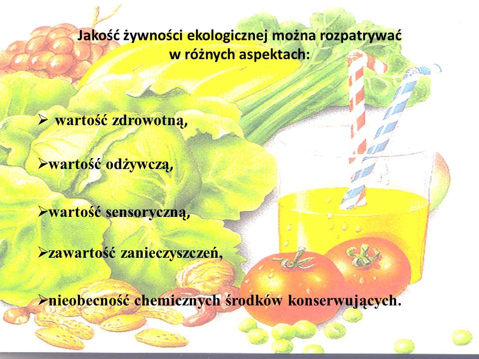 Jakość żywności ekologicznej można rozpatrywać w różnych aspektach: