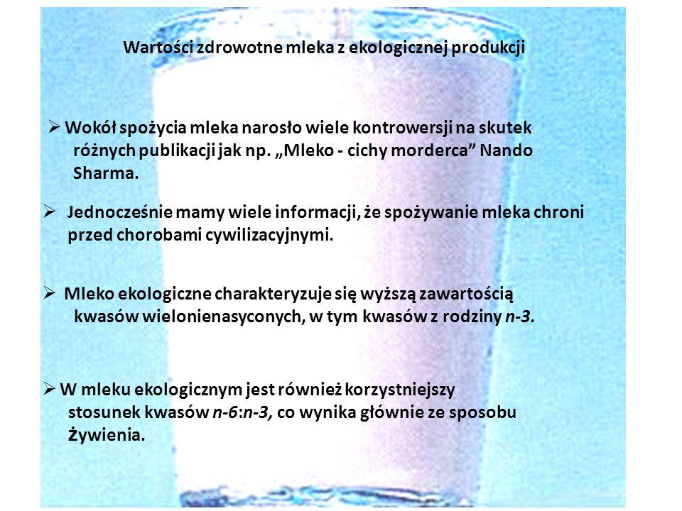Wartości zdrowotne mleka z ekologicznej produkcji