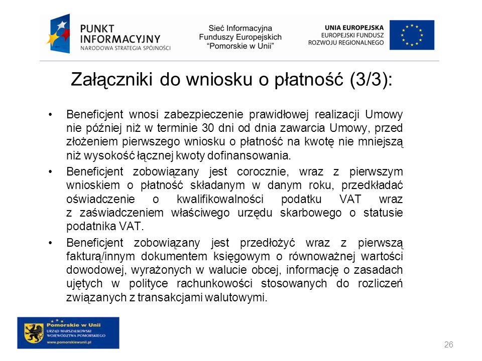 Załączniki do wniosku o płatność (3/3):