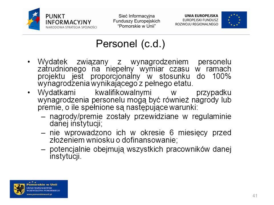 Personel (c.d.)