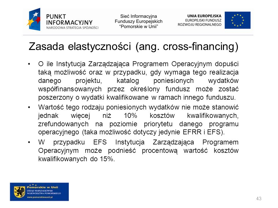 Zasada elastyczności (ang. cross-financing)