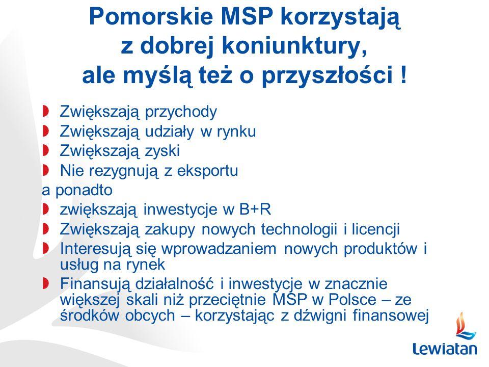 Pomorskie MSP korzystają z dobrej koniunktury, ale myślą też o przyszłości !