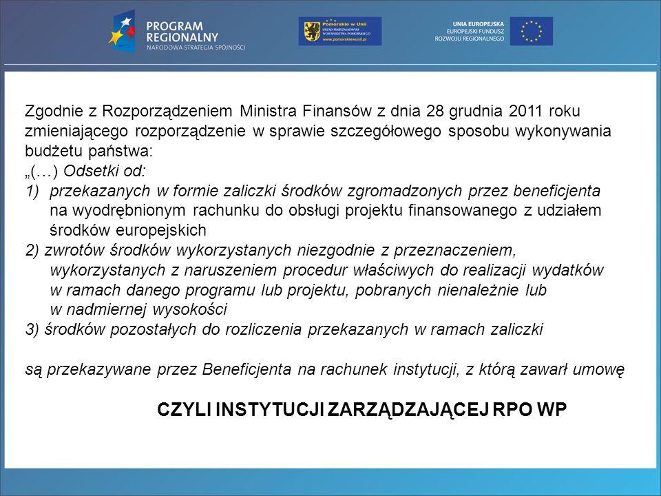 Zgodnie z Rozporządzeniem Ministra Finansów z dnia 28 grudnia 2011 roku