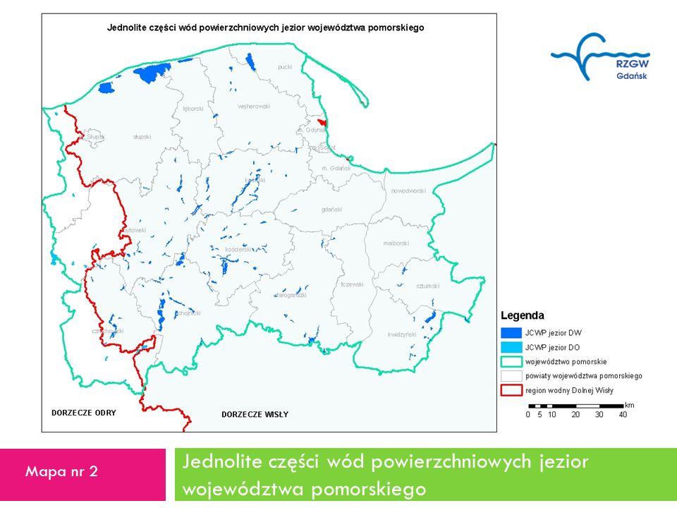 Jednolite części wód powierzchniowych jezior województwa pomorskiego