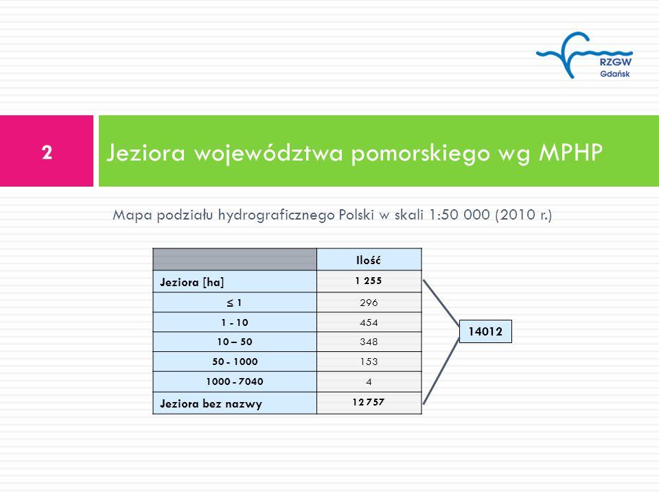 Jeziora województwa pomorskiego wg MPHP