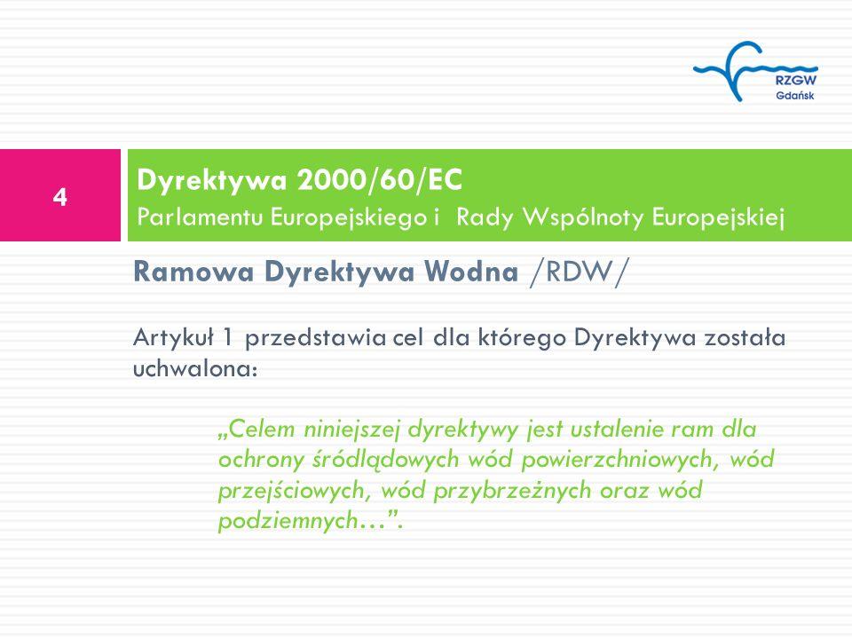 Ramowa Dyrektywa Wodna /RDW/