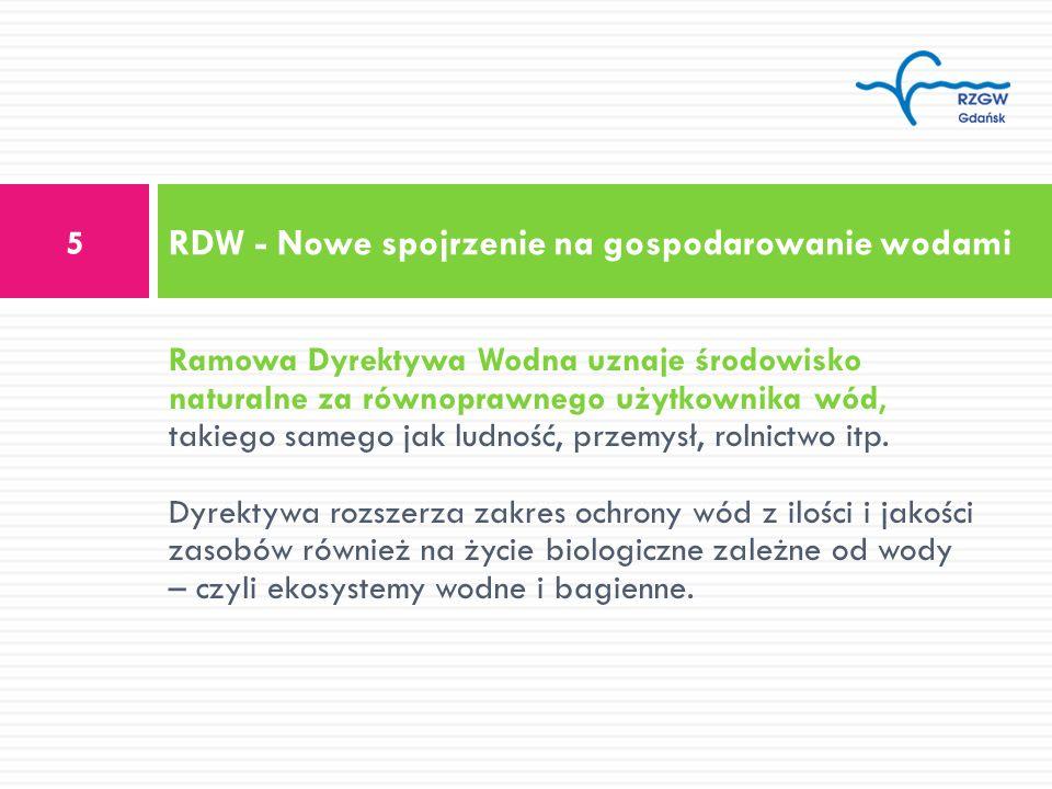 RDW - Nowe spojrzenie na gospodarowanie wodami