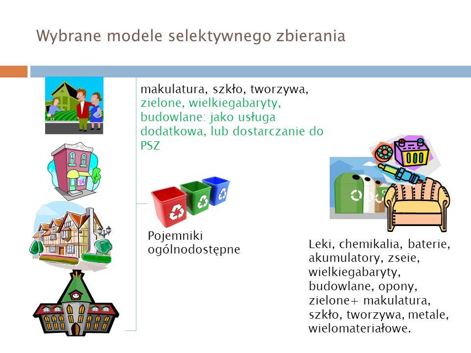 Wybrane modele selektywnego zbierania