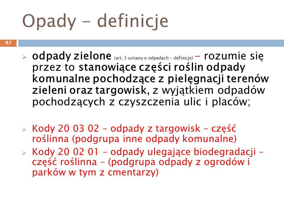 Opady - definicje