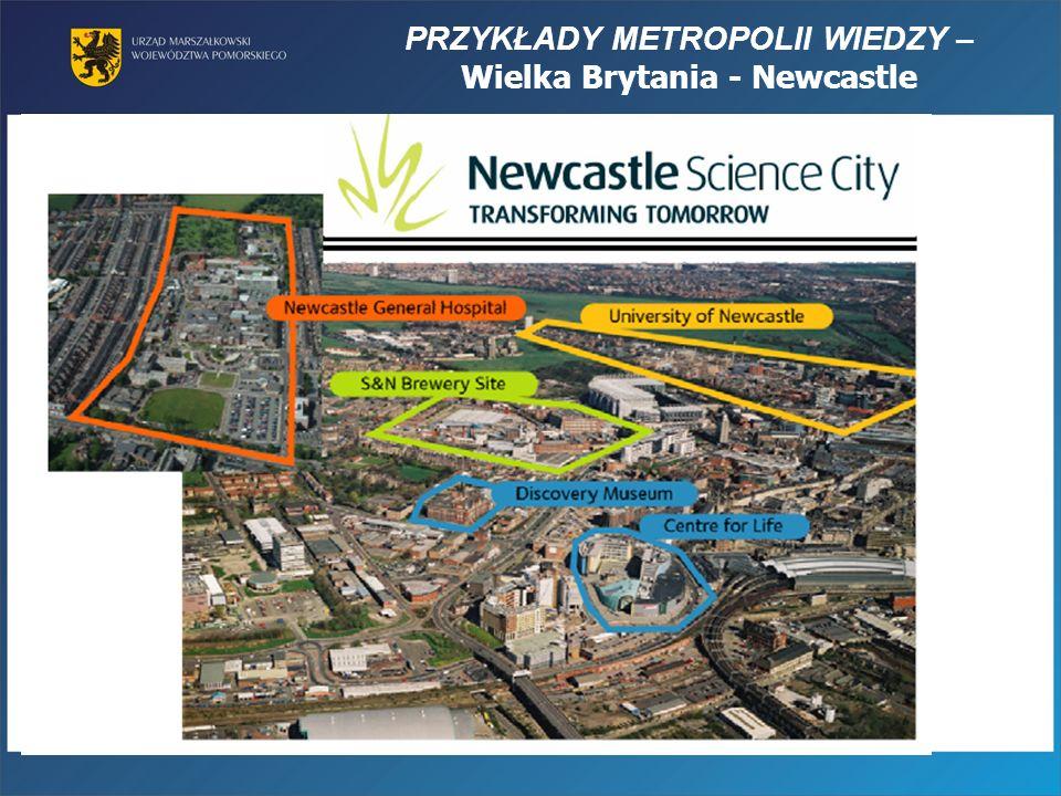 PRZYKŁADY METROPOLII WIEDZY – Wielka Brytania - Newcastle
