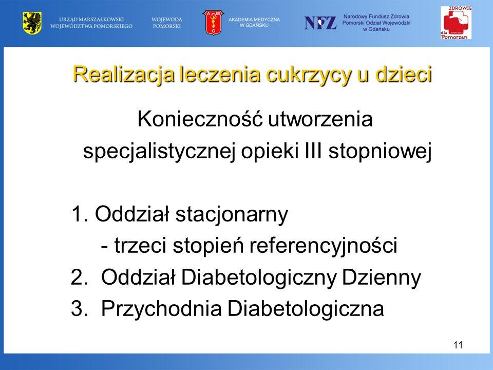 Realizacja leczenia cukrzycy u dzieci