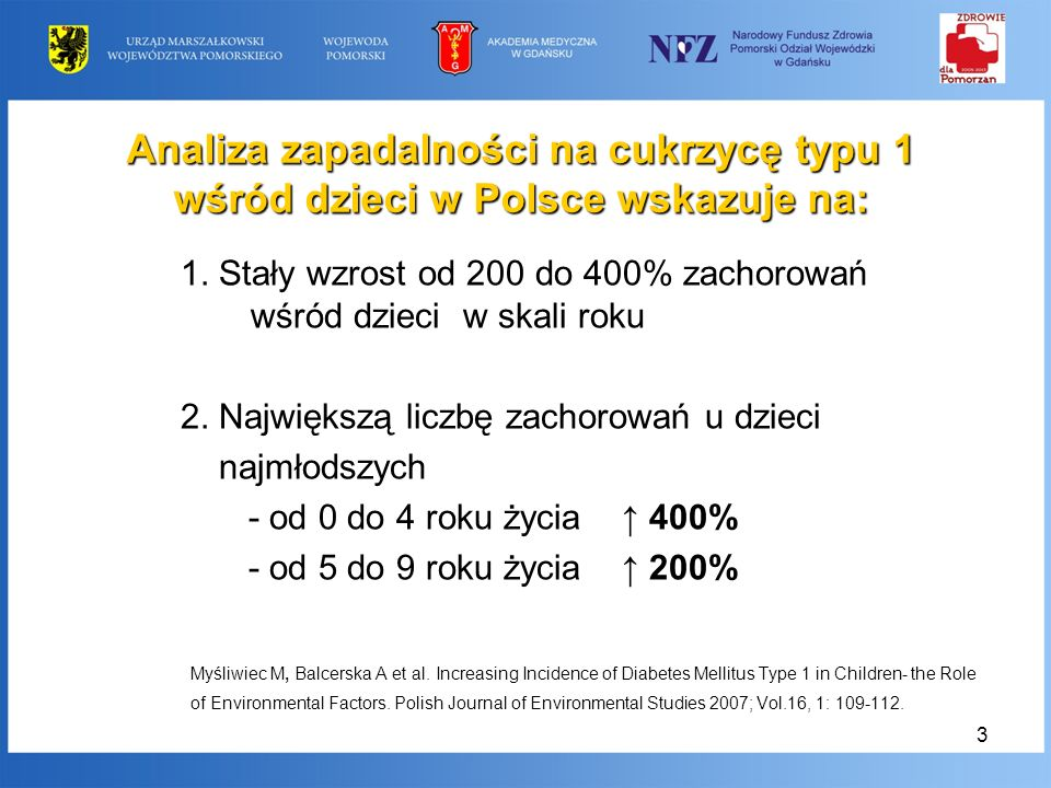 Analiza zapadalności na cukrzycę typu 1 wśród dzieci w Polsce wskazuje na: