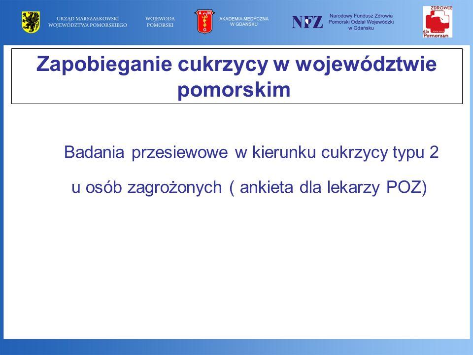 Zapobieganie cukrzycy w województwie