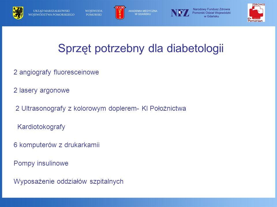 Sprzęt potrzebny dla diabetologii