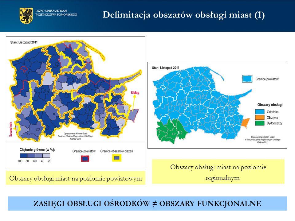 Delimitacja obszarów obsługi miast (1)