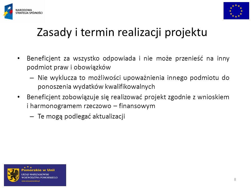 Zasady i termin realizacji projektu